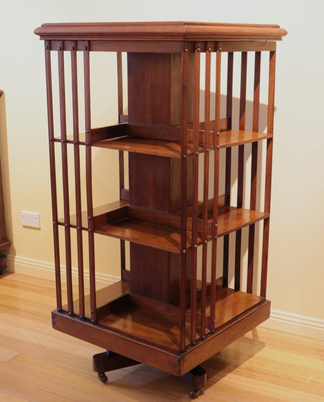 sycamore furniture inspired handmade detail cases mission revolving bookcase htm fs quartersawn