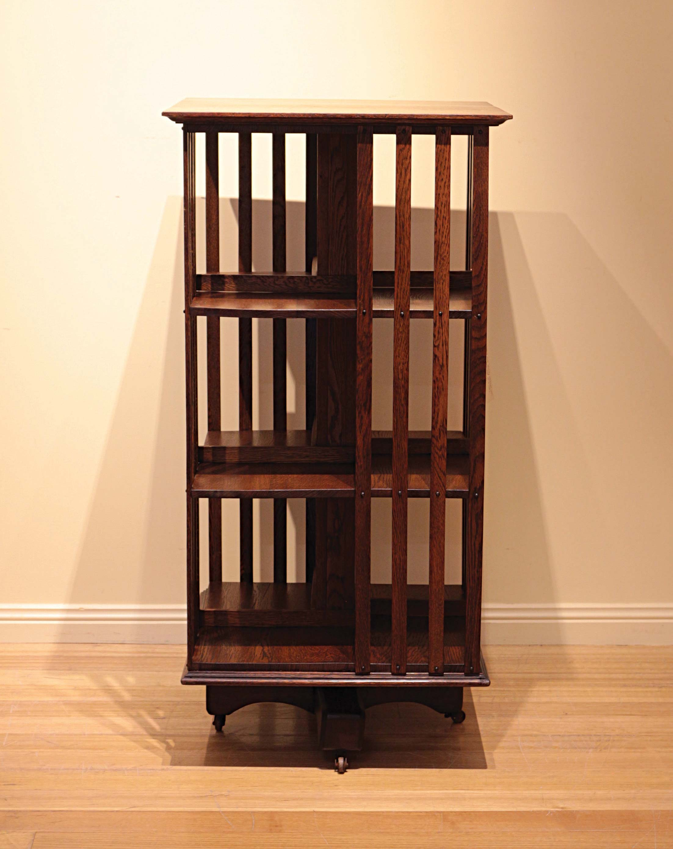 Complete Full Bookcase Daybed With Storage Benchmark Full: Early 20th Century American Oak Revolving Bookcase
