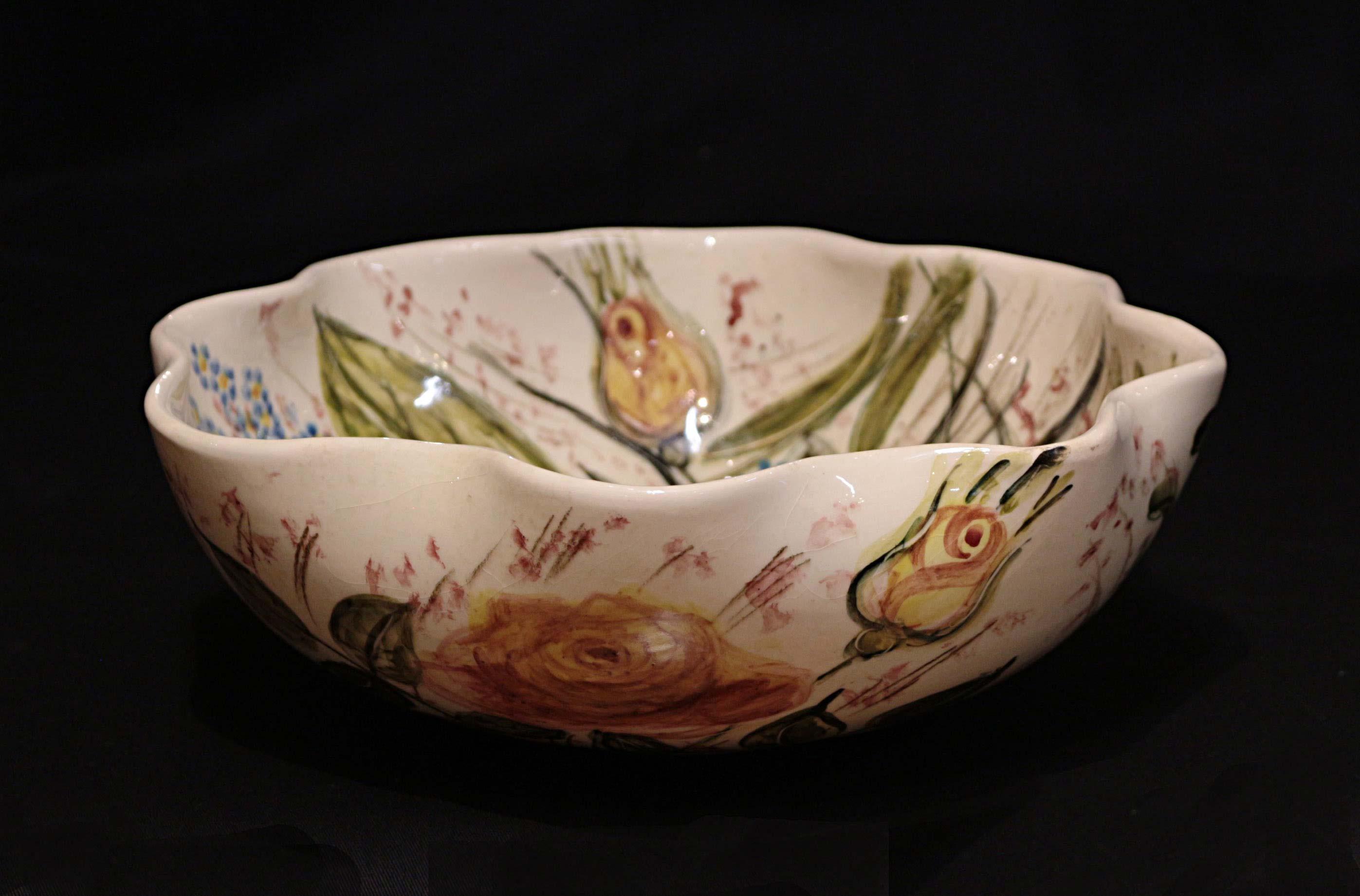 Daisy Ware Australian Pottery Fruit Bowl The Merchant Of