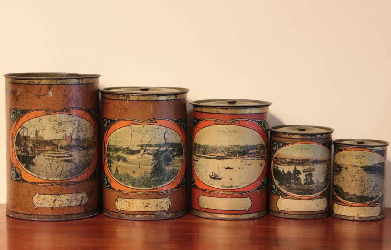 early sydney scenes kitchen canisters set the merchant
