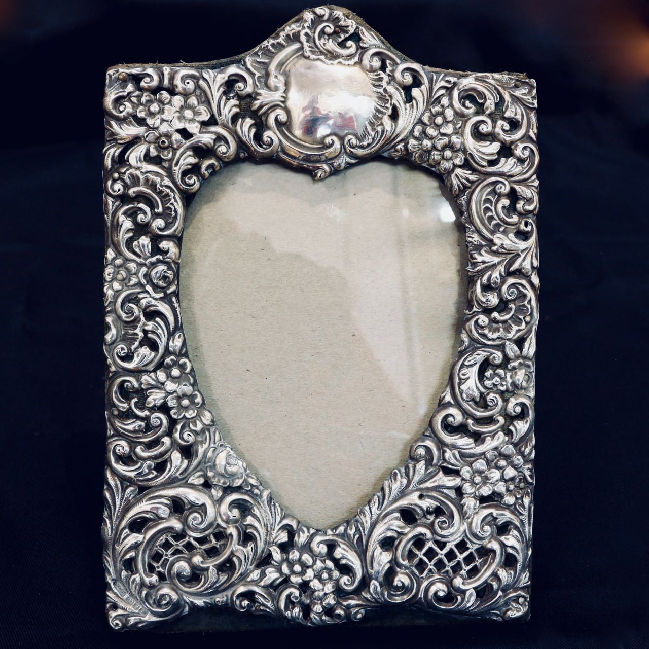 Antique Sterling Silver Heart Picture Frame The Merchant Of Welby