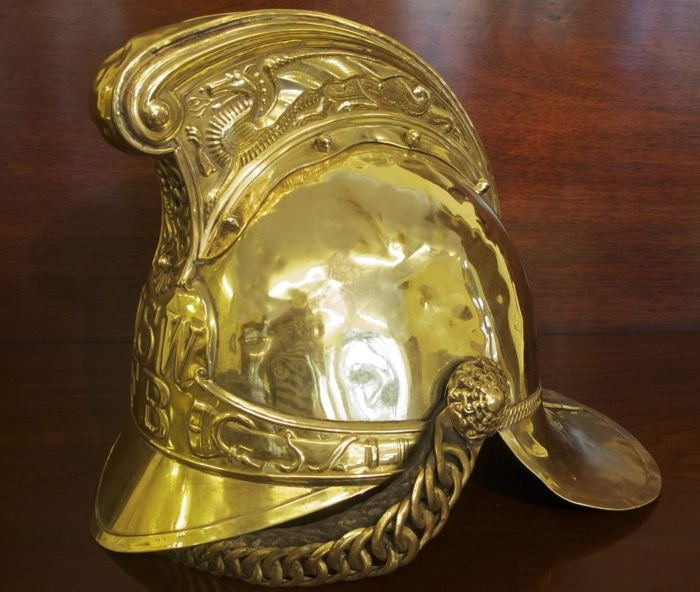 Nsw Brass Fire Helmet The Merchant Of Welby