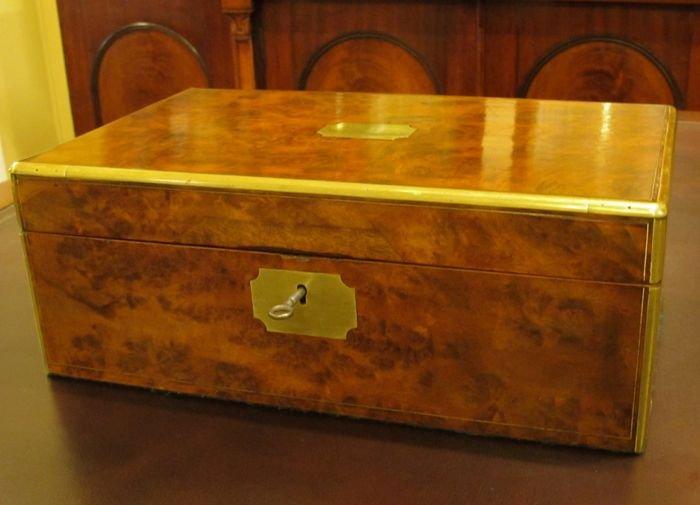 Victorian Walnut Writing Box | The Merchant of Welby
