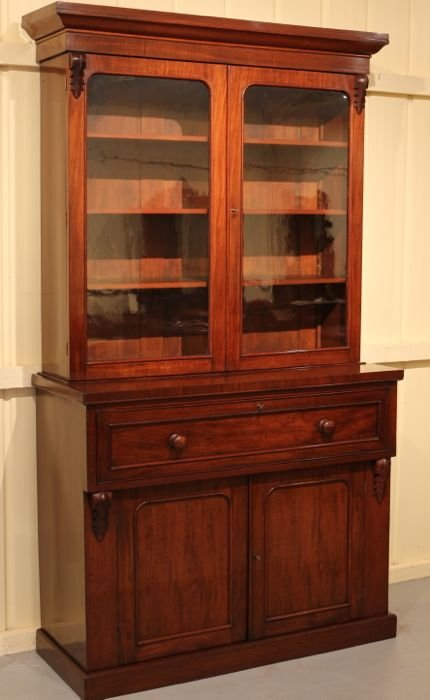 Complete Full Bookcase Daybed With Storage Benchmark Full: Victorian Mahogany Secretaire Bookcase