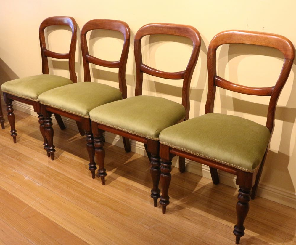 Set of antique tasmanian blackwood dining chairs the