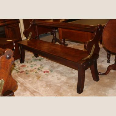 Pair Of Antique Railway Kauri Pine Bench Seats The